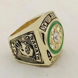1968 New York Jets Super Bowl Championship Ring - foxfans.myshopify.com