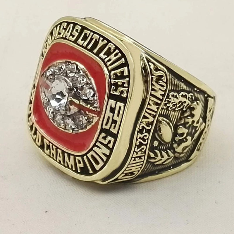1969 Kansas City Chiefs Super Bowl Championship Ring - foxfans.myshopify.com