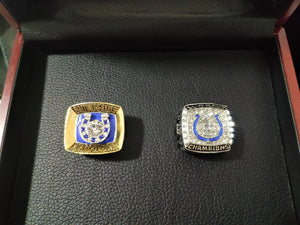 1970/2006 Baltimore Colts&Indianapolis Colts Super Bowl Championship Ring Set