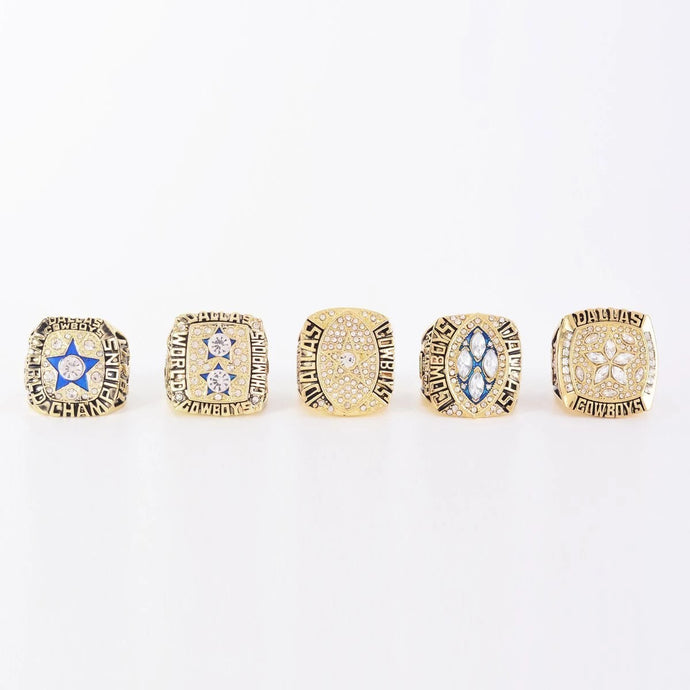 1971/1977/1992/1993/1995 Dallas Cowboys Super Bowl Championship Rings Set