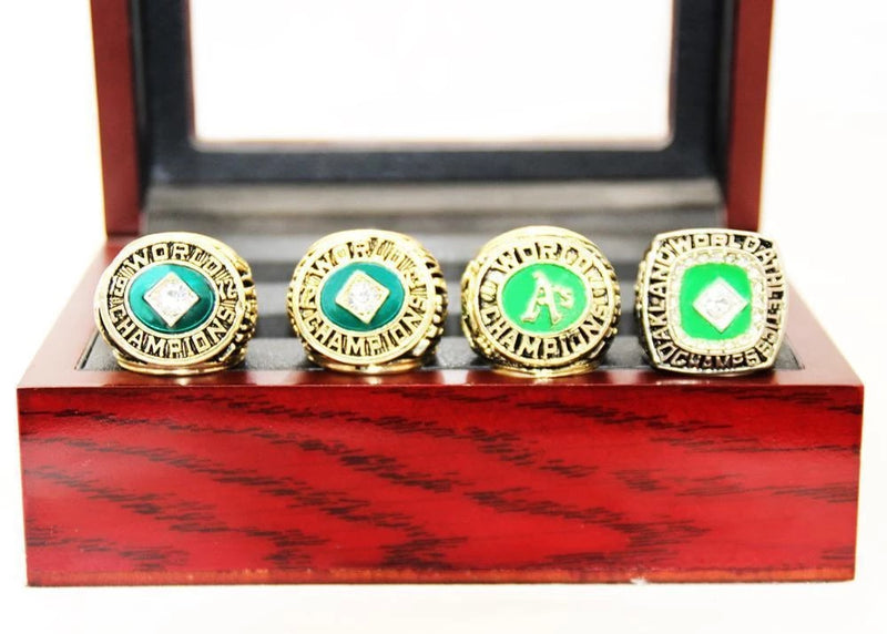 1972/1973/1974/1989 Oakland Athletics World Series Championship Rings Sets - foxfans.myshopify.com