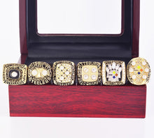 Load image into Gallery viewer, 1974/1975/1978/1979/2005/2008 Pittsburgh Steelers Super Bowl Championship Rings Set