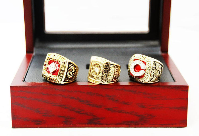 1975/1976/1990 Cincinnati Reds World Series Championship Rings Sets - foxfans.myshopify.com