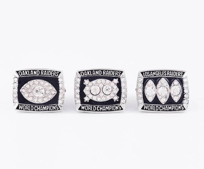 1976/1980/1983 Oakland Raiders Super Bowl Championship Rings Set