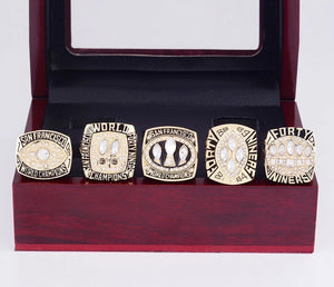 1981/1984/1988/1989/1994 San Francisco 49ers Super Bowl Championship Rings Set