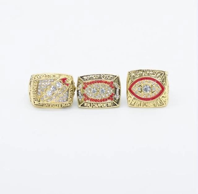 1982/1987/1991 Washington Redskins Super Bowl Ring Set