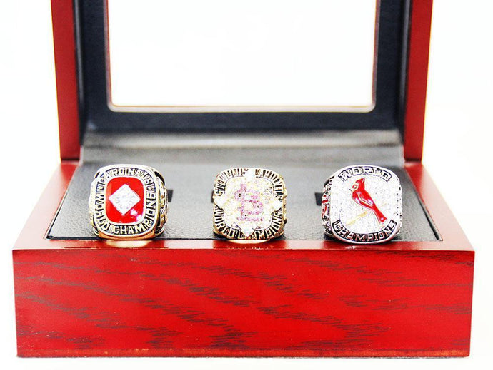 1982/2006/2011 St. Louis Cardinals World Series Championship Rings Set