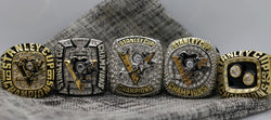 1991/1992/2009/2016/2017 Pittsburgh Penguins Stanley Cup 5 Ring Set  - Premium Series