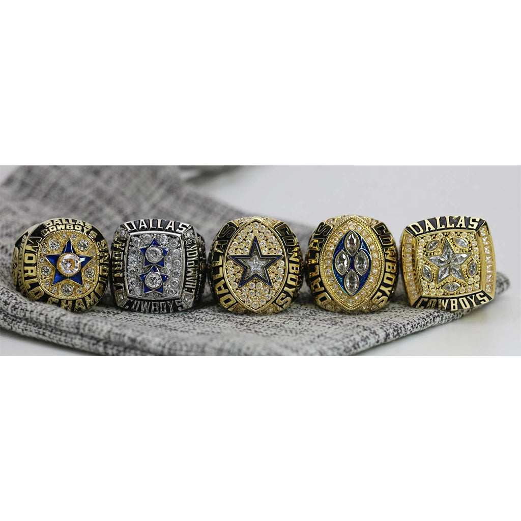 1971/1977/1992/1993/1995 Dallas Cowboys Super Bowl Ring Set - Premium Series - foxfans.myshopify.com