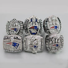 Load image into Gallery viewer, 2001/2003/2004/2014/2016/2018 New England Patriots Super Bowl Ring Set - Premium Series