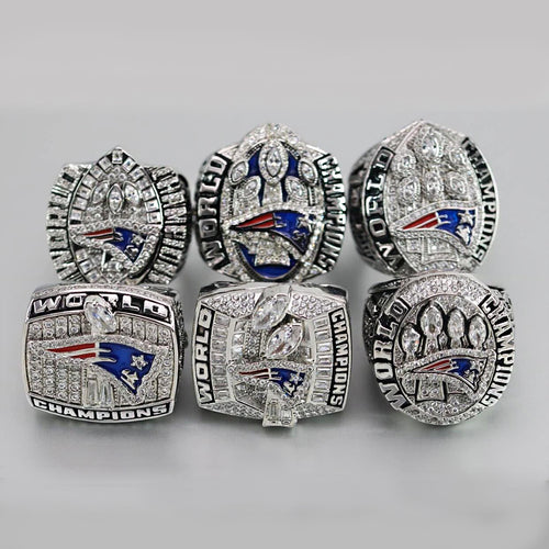 2001/2003/2004/2014/2016/2018 New England Patriots Super Bowl Ring Set - Premium Series
