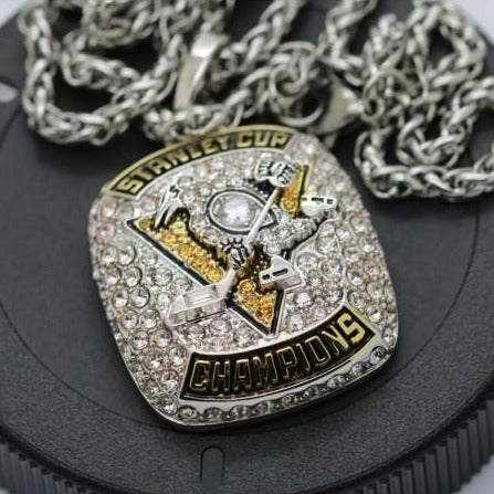 Pittsburgh Penguins Stanley Cup - Sydney Crosby Championship Pendant/Necklace (2017) - Premium Series