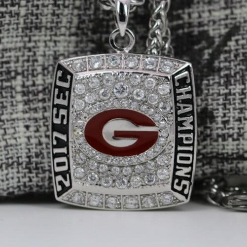 Georgia Bulldogs College Football SEC Championship Pendant/Necklace (2017) - Premium Series
