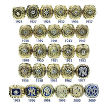 Load image into Gallery viewer, 27 PCS New York Yankees 1923-2009 World Series Championship Rings Set