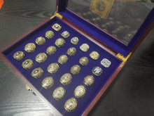 Load image into Gallery viewer, 27 PCS New York Yankees 1923-2009 World Series Championship Rings Set  Team: New York Yankees Year: 1923-2009(1923/1927/1928/1932/1936/1937/1938/1939/1941/1943/1947/1949/1950/1951/1952/1953/1956/1958/1961/1962/1977/1978/1996/1998/1999/2000/2009) Metal Type: Zinc Alloy Material: Cubic Zirconia Size: 9 to 12