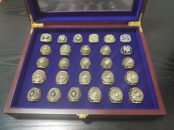 27 PCS New York Yankees 1923-2009 World Series Championship Rings Set - foxfans.myshopify.com