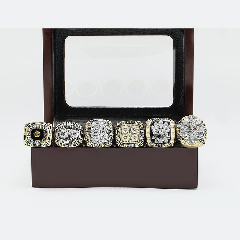 1974/1975/1978/1979/2005/2008 Pittsburgh Steelers Super Bowl Ring Set - Premium Series - foxfans.myshopify.com