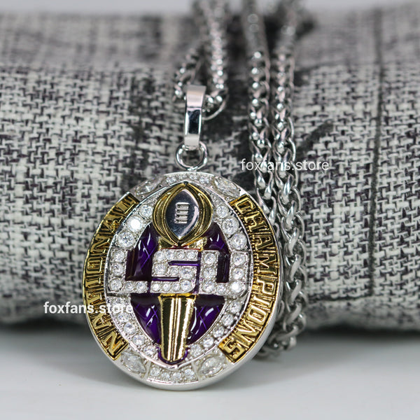 Louisiana State University (LSU) College Football National Championship Pendant (2019) - Premium Series