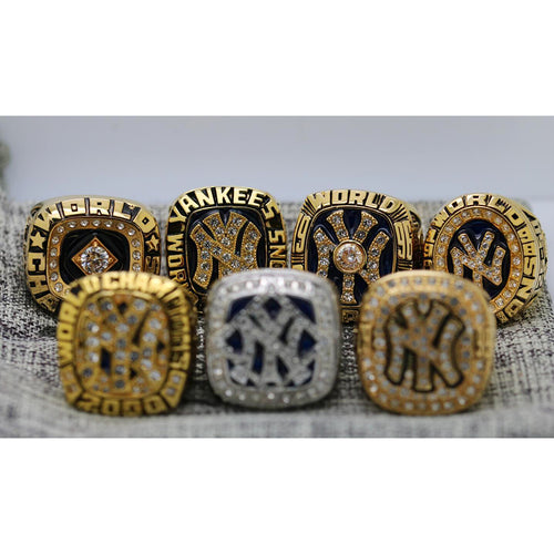 1977/1978/1996/1998/1999/2000/2009 New York Yankees World Series Ring  Set - Premium Series