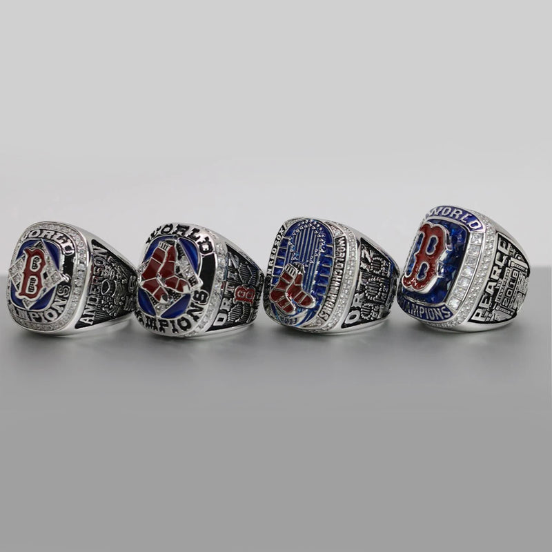 2004/2007/2013/2018 Boston Red Sox MLB World Series Championship Ring Set - Premium Series - foxfans.myshopify.com
