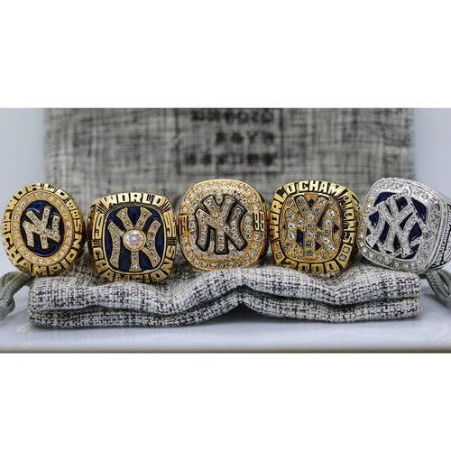 1996/1998/1999/2000/2009 New York Yankees World Series Ring  Set - Premium Series