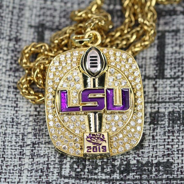 Louisiana State University (LSU) College Football National Championship Pendant/Necklace (2019) - Premium Series