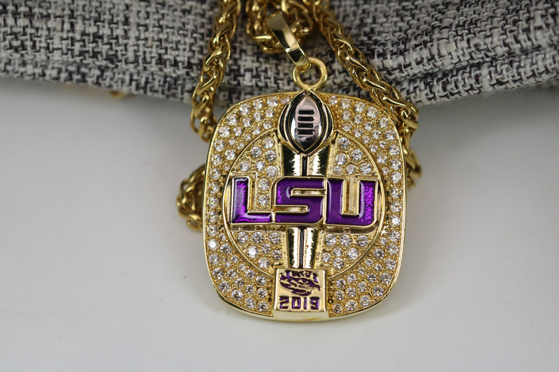 Louisiana State University (LSU) Fans Edition College Football National Championship Pendant/Necklace (2019) - Premium Series