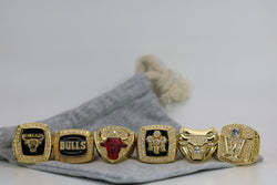 1991/1992/1993/1996/1997/1998 Chicago Bulls Championship Ring Set 6 Ring Set - Premium Series