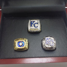 Load image into Gallery viewer, 1985/2014(AL)/2015 Kansas City Royals World Series Ring  Set - Premium Series - foxfans.myshopify.com