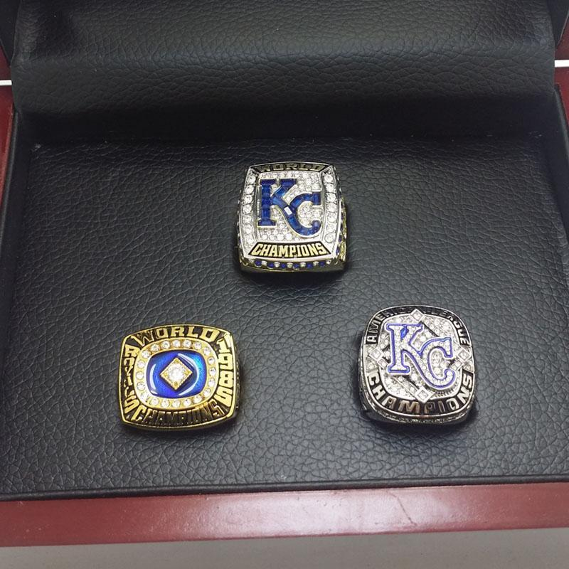 1985/2014(AL)/2015 Kansas City Royals World Series Ring  Set - Premium Series - foxfans.myshopify.com