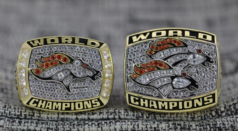 1997/1998 Denver Broncos Super Bowl Ring Set - Premium Series