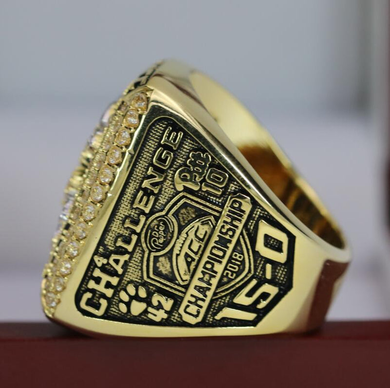 2018 Clemson Tigers College Football ACC Championship Ring - Premium Series - foxfans.myshopify.com
