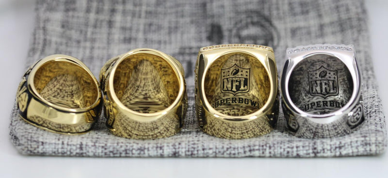 1966/1967/1996/2010 Green Bay Packers Super Bowl Ring Set - Premium Series