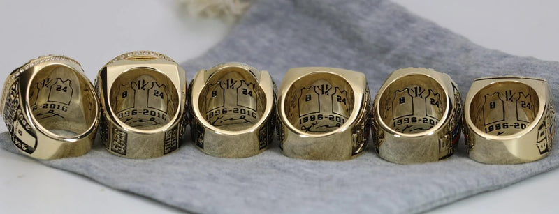 (2000, 2001, 2002, 2009, 2010, Kobe) Los Angeles Lakers NBA Championship Ring 6 Ring Set - Premium Series - foxfans.myshopify.com