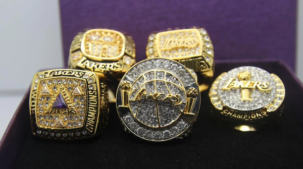 (2000, 2001, 2002, 2009, 2010) Los Angeles Lakers NBA Championship Ring 5 Ring Set - Premium Series - foxfans.myshopify.com