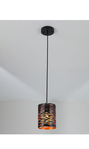 Vintage Mini Pierced hanging light black farmhouse cage hollow-carved pendant light
