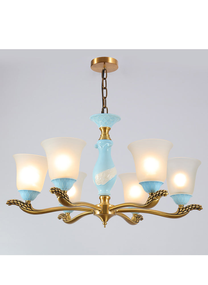 Modern room decor glass chandelier home decor ceramic pendant light fixture