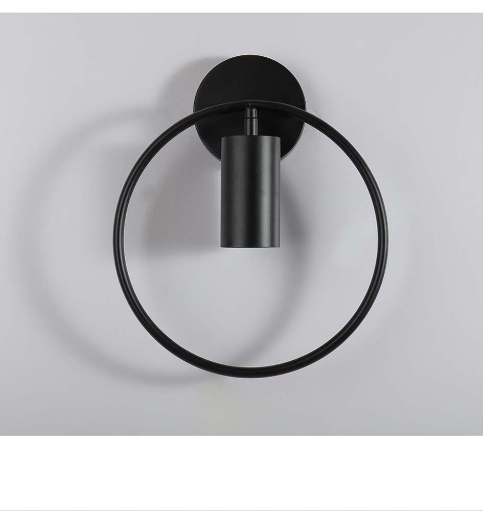 Modern room decor wall sconce light black circle wall decor lamp