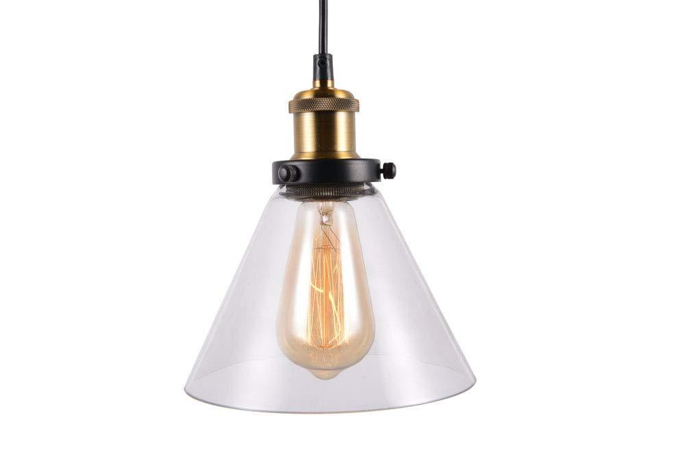 Industrial Hanging Light Edison Indoor Pendant lamp Mini 1-Light Clear Glass Pendant Light Vintage lamp