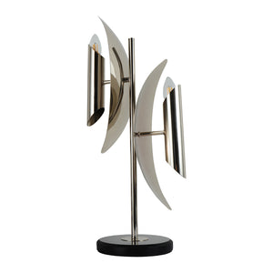 Modern table light home table lamps for living room with nickel finish