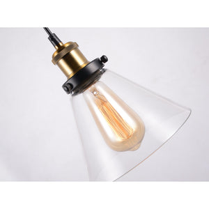 Glass pendant lighting industrial hanging light fixtures
