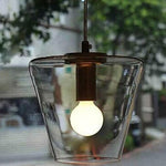 Cone kitchen island pendant lighting glass pendant lamp
