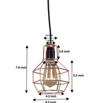 Wire cage kitchen lights fixture rust dining room lighting