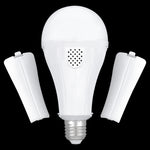 4 pack Outdoor Rechargeable Emergency LED Bulb, Battery driven E26 bulb with hook