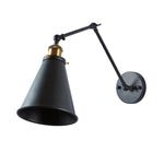 Black swing arm wall sconces antique brass holder wall light
