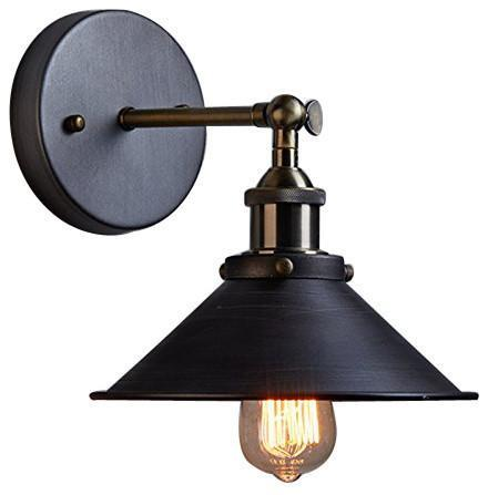 Industrial Edison Simplicity 1 Light Wall Light Sconces Aged Steel Finish