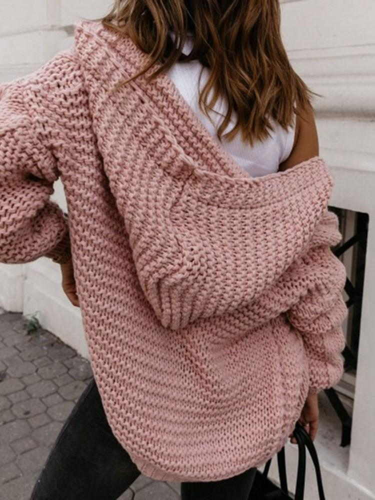 Wrapped Thick Regular Loose Hooded Sweater