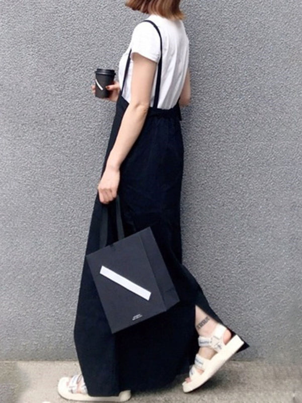 Split Ankle-Length Sleeveless Casual Summer Dress