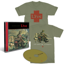 Load image into Gallery viewer, TC25 CD Cover Tee Bundle (Olive)