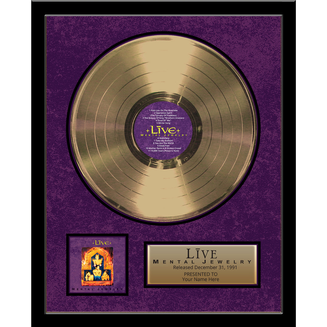 Mental Jewelry Framed Gold Record
